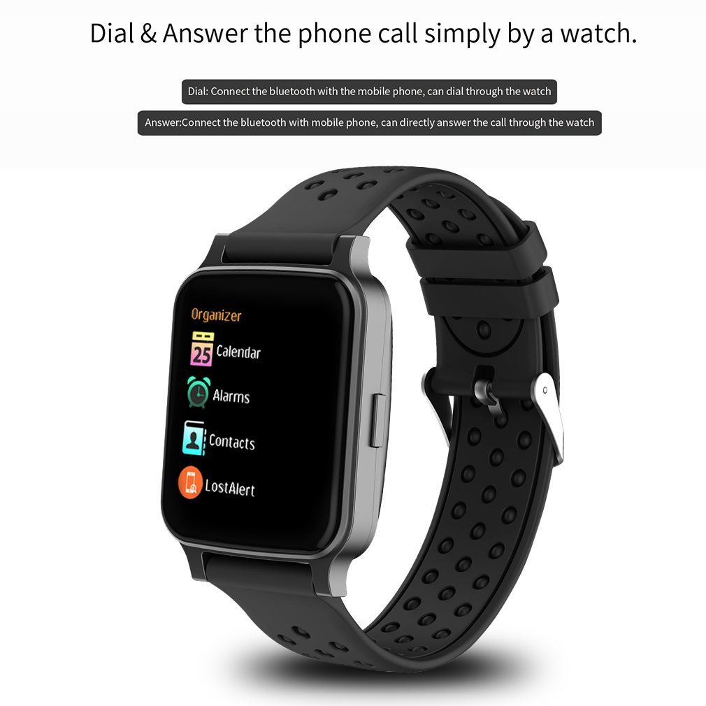 smartwatch bluetooth armband uhr f r ios android fitness. Black Bedroom Furniture Sets. Home Design Ideas