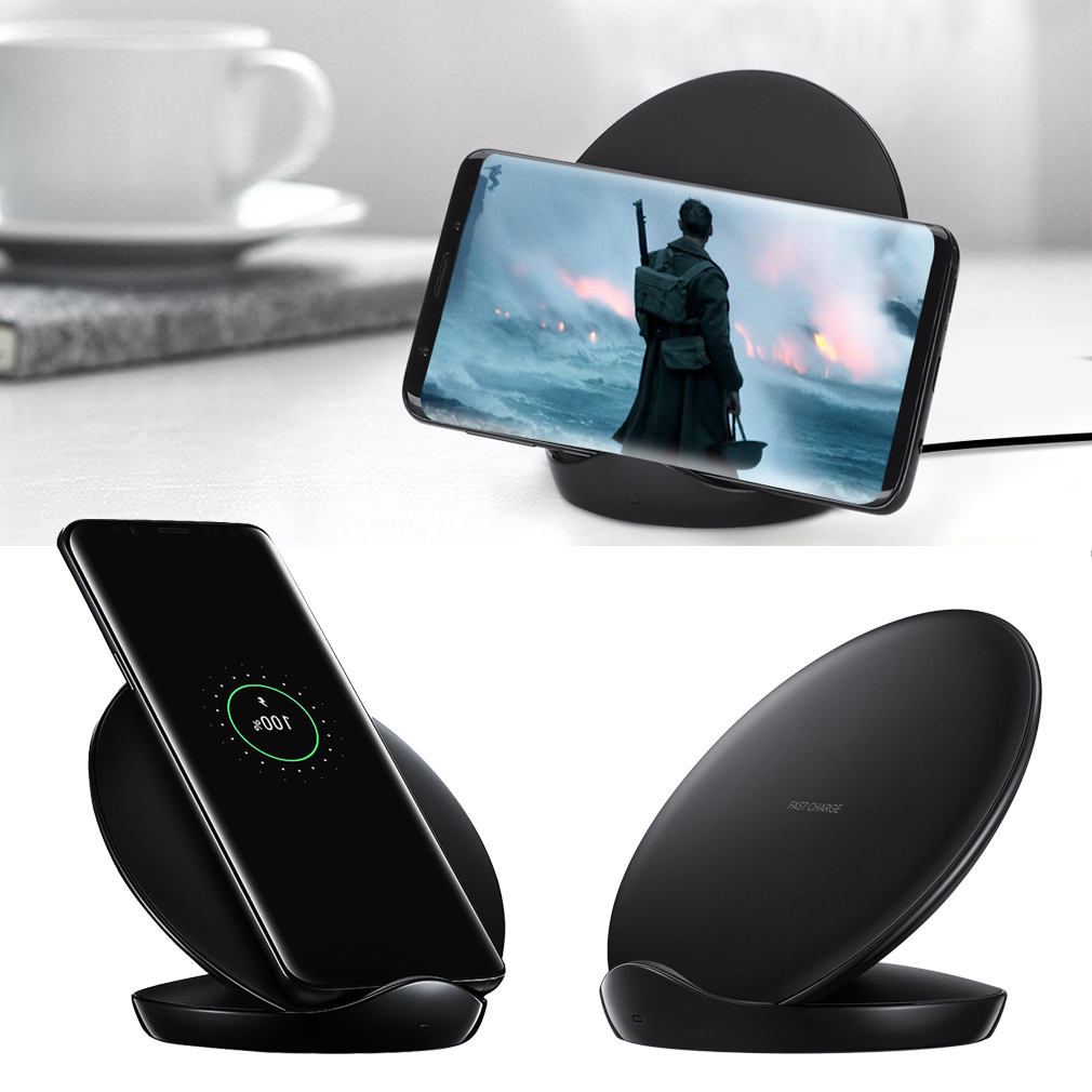 samsung qi induktive ladestation wireless charger galaxy s7 edge s8 s9 s10 plus ebay. Black Bedroom Furniture Sets. Home Design Ideas