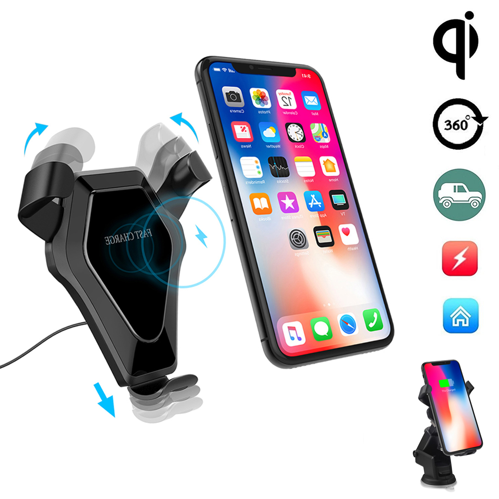wireless charger kfz auto ladeger t qi induktive. Black Bedroom Furniture Sets. Home Design Ideas