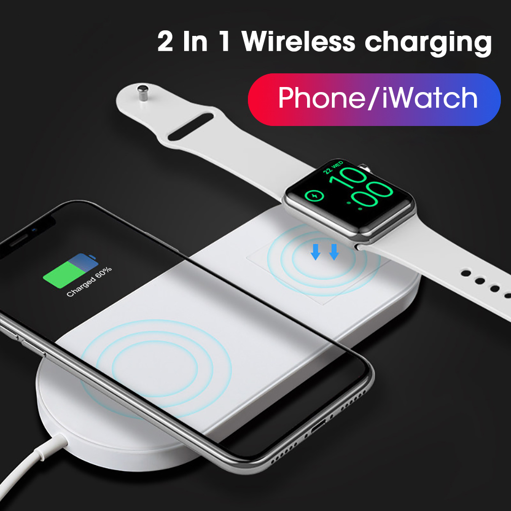 2in1 qi induktion ladestation fast wireless charger apple iwatch iphone samsung ebay. Black Bedroom Furniture Sets. Home Design Ideas